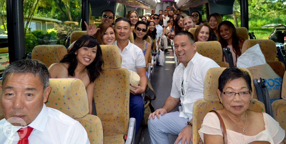 Gold MCI 4500 Series Motorcoach Coach Bus / Honolulu, HI   / Hourly $179.00