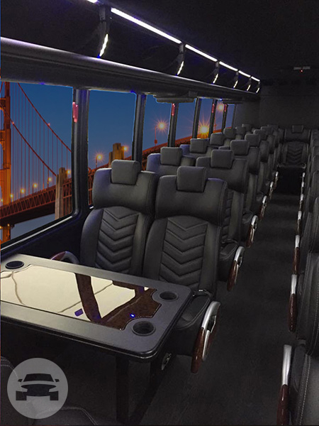 37 seater Shuttle Mini Coach Party Limo Bus  / Menlo Park, CA   / Hourly $0.00