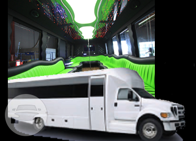 Party Bus White (36 Passengers) Party Limo Bus  / Los Angeles, CA   / Hourly $0.00