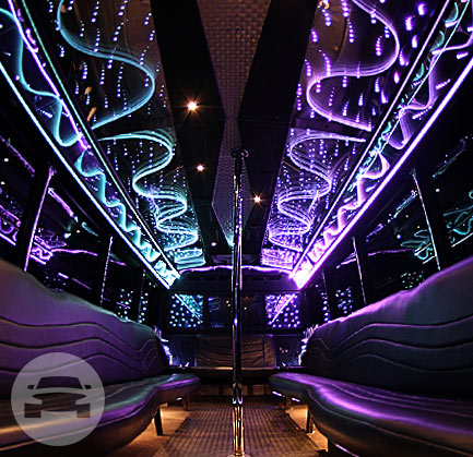 30 Passenger Limo Party Bus | White Exterior Party Limo Bus  / Houston, TX   / Hourly $0.00