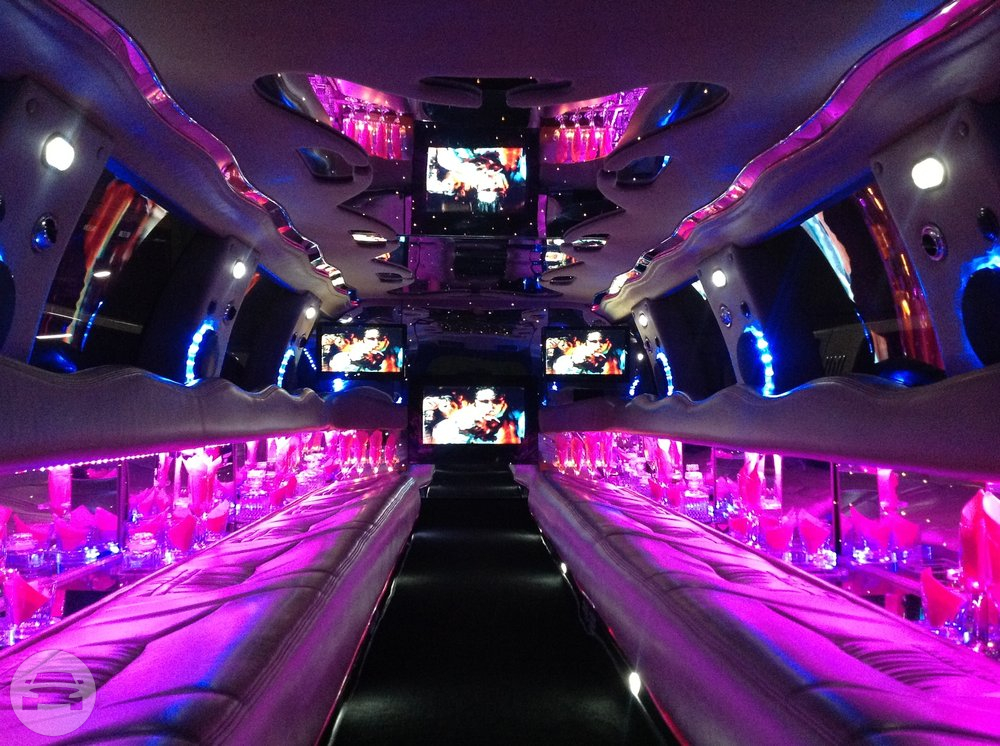 18-24 Passenger Pink Stretch Excursion Tuxedo Limousine Limo / Cupertino, CA   / Hourly $0.00