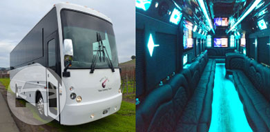 Limousine Bus 50 Passengers Party Limo Bus  / Napa, CA   / Hourly $369.00