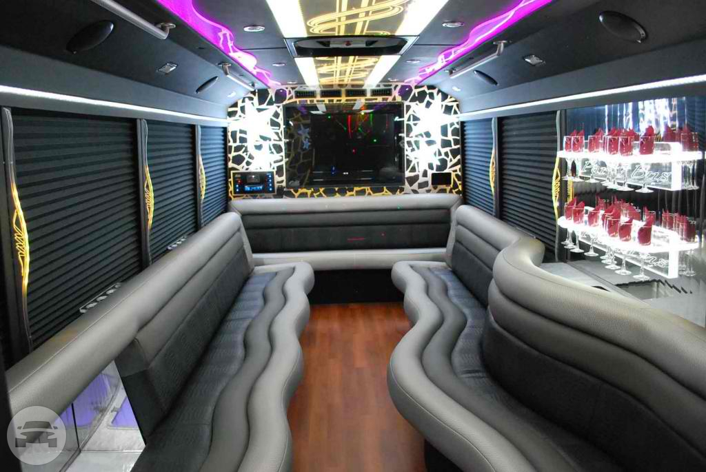 White Ford E450 Limo Bus Party Limo Bus / Cincinnati, OH   / Hourly $0.00