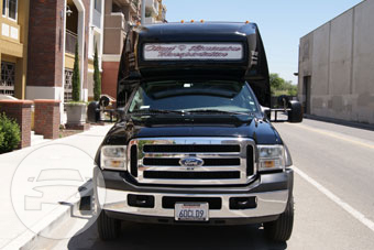 27 Passenger Shuttle Ford Coach Land Yacht Black Coach Bus  / San Carlos, CA   / Hourly $0.00