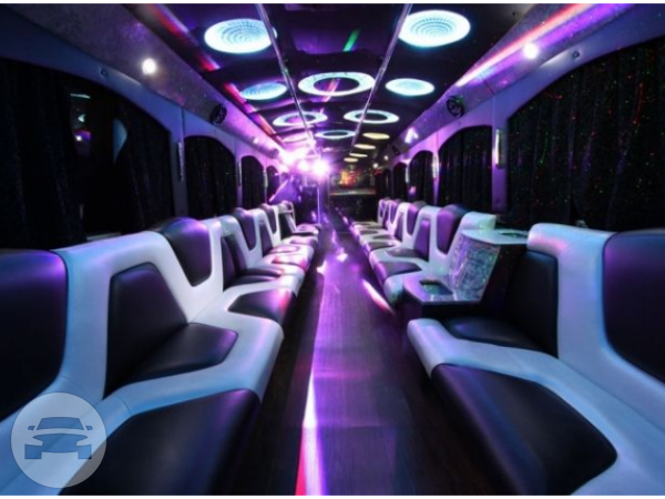 40 Passenger Party Bus Party Limo Bus  / Alpharetta, GA   / Hourly $0.00