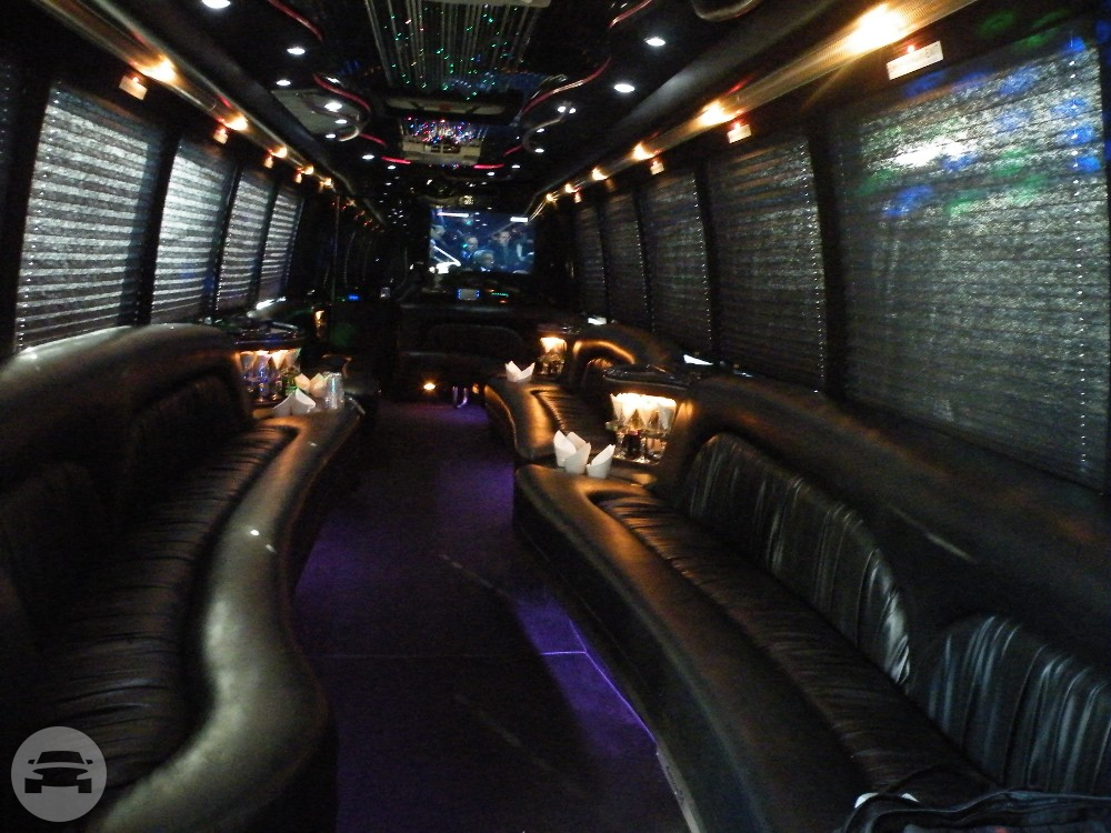 Party Bus - 30 Passenger (Black) Party Limo Bus  / New York, NY   / Hourly $0.00