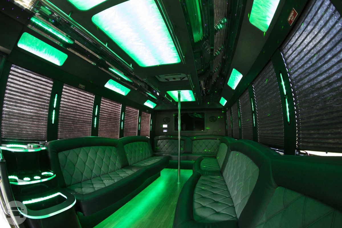 20 Passengers Party Bus Party Limo Bus  / Detroit, MI   / Hourly $0.00