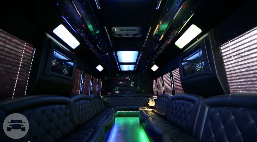 Tiffany Party Bus v.6 Party Limo Bus  / Roseville, CA   / Hourly $0.00