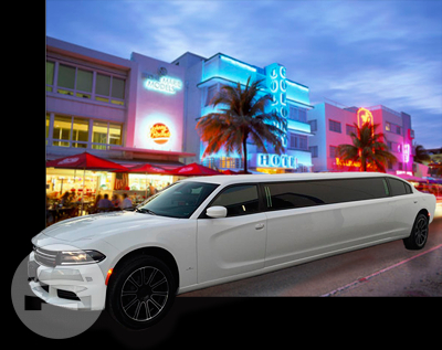 NEW 2016 Dodge Charger White Cat Limo  / Miami, FL   / Hourly $0.00