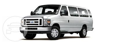 Ford 15 Passenger Van >> Ford 15 Passenger Van White Holiday Limo Online Reservation
