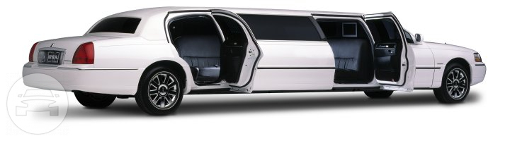 White Lincoln Stretch Limousine - 10 Passenger Limo  / Los Angeles, CA   / Hourly $0.00