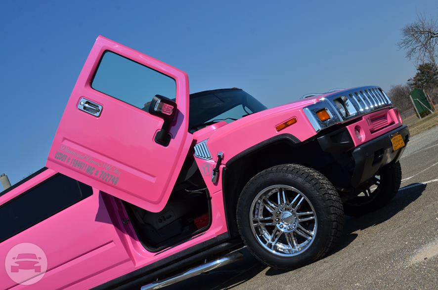 Pink Stretched H2 Hummer Limousine Lambo