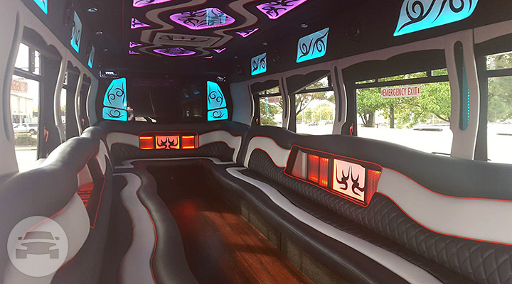 34 passenger Party Bus Party Limo Bus  / Chicago, IL   / Hourly $0.00
