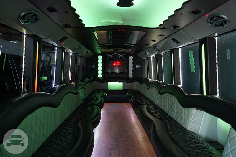 20-35 Passenger Party Bus Party Limo Bus / Detroit, MI   / Hourly $0.00