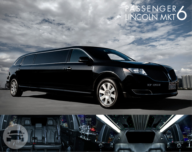 The New Lincoln MKT Stretch Limousine 6- Passengers Limo / West New York, NJ 07093   / Hourly $100.00