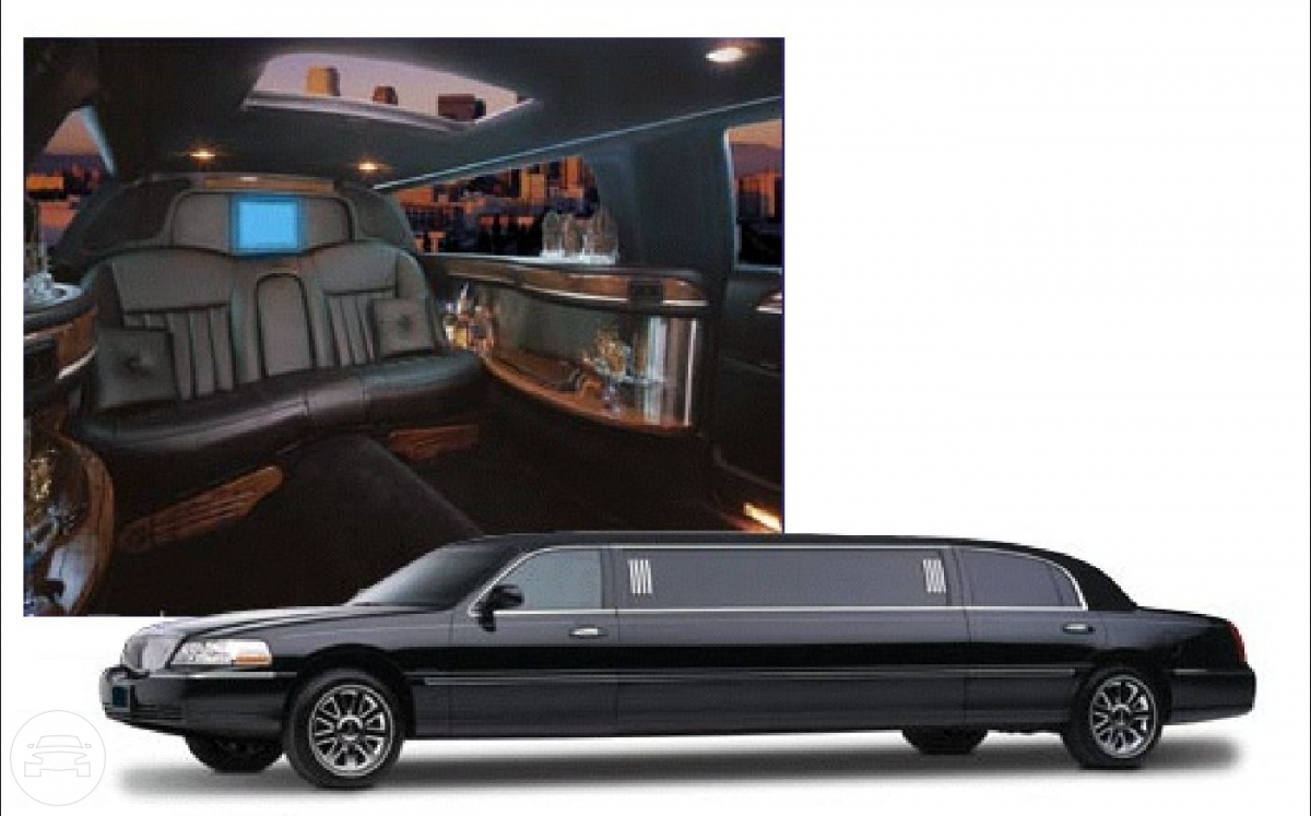 6 Passenger Black Lincoln Stretch Limousine Limo / New York, NY   / Hourly $80.00