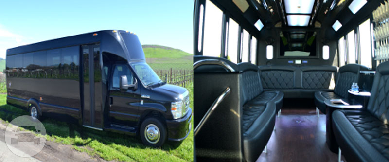 18 Passenger Limo Bus Coach Bus  / Napa, CA   / Hourly (Other services) $152.94