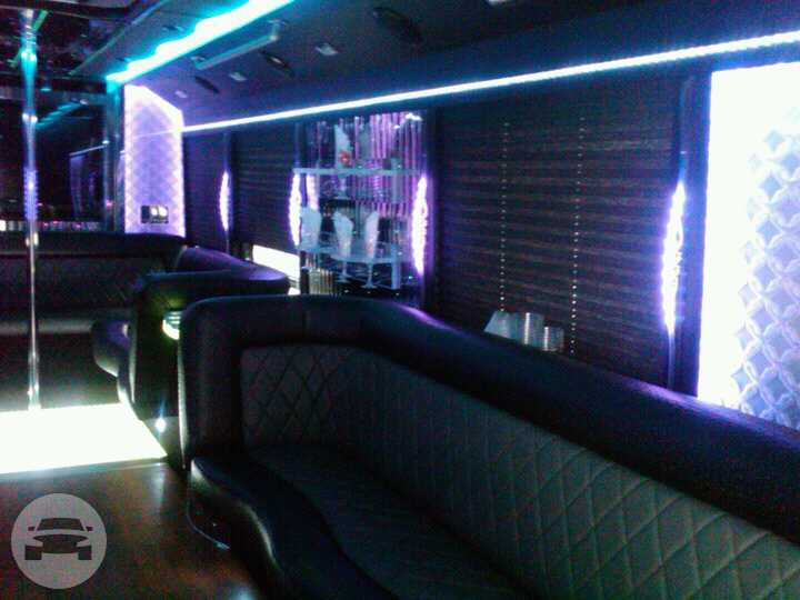 Party Bus 27 Pax Party Limo Bus / New Brunswick, NJ   / Hourly $0.00