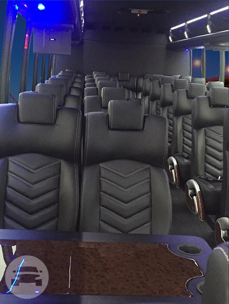 37 seater Shuttle Mini Coach Party Limo Bus  / Tracy, CA   / Hourly $0.00