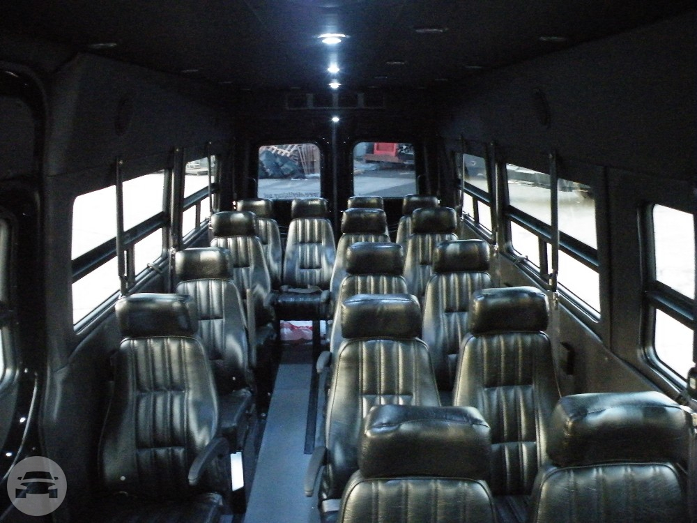 14 pax mercedes sprinter van nyc limo party bus for Mercedes benz sprinter rental nyc