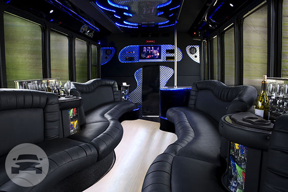 26 Passenger Limo Bus Party Limo Bus  / Milwaukee, WI   / Hourly $0.00