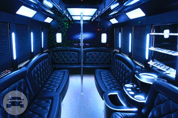 BRAND NEW PREMIER PARTY BUS Party Limo Bus  / New Orleans, LA   / Hourly $0.00