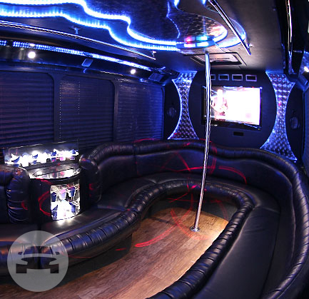 30 Passenger Limo Party Bus | Black Exterior Party Limo Bus  / Houston, TX   / Hourly $0.00