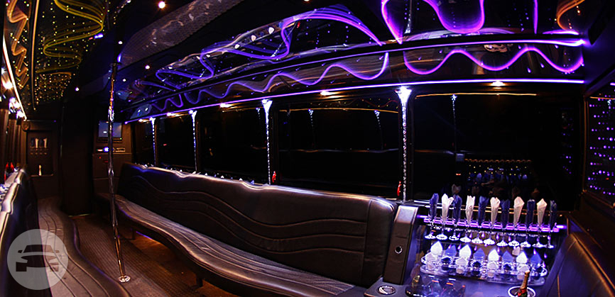 30 Passenger Limo Party Bus | White Exterior Party Limo Bus  / Stafford, TX 77477   / Hourly $0.00